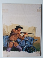 #85. Original Cover painting Western novel U.S.Marshal #245