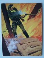 #86. Original Cover painting Western novel Rurales #44