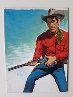 #88. Original Cover painting western novel Gran Canon #377