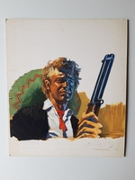 #89. Original Cover painting Western novel Winchester #213