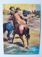 #92. Original Cover painting Western novel Extra Oeste #417