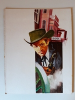 #123. Original Cover painting Western novel Oeste 537