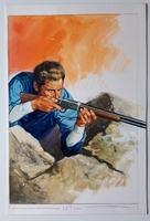 #129. Original Cover painting Western novel Oeste #272