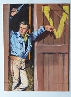 #131. Original Cover painting Western novel Rurales #115
