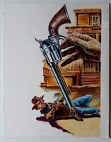 #135. Original Cover painting Western novel Colt45 #230