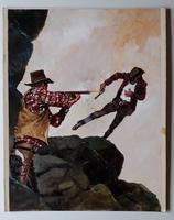 #136. Original Cover painting Western novel Cuatreros #37