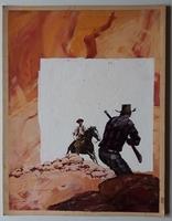 #138. Original Cover painting Western novel Rurales #449