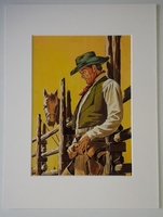 #140. Original Cover painting Western novel Caravana #216