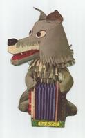 Fabeltjeskrant kartonnen snoep-figuur Bor de Wolf