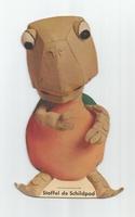 Fabeltjeskrant kartonnen snoep-figuur Stoffel de Schildpad
