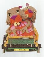 Fabeltjeskrant kartonnen snoep-figuur Gebroeders Bever