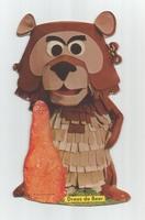 Fabeltjeskrant kartonnen snoep-figuur Droes de Beer