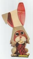 Fabeltjeskrant kartonnen snoepzak-figuur Zoef de Haas