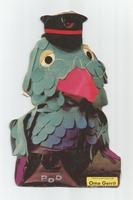 Fabeltjeskrant kartonnen snoep-figuur Ome Gerrit
