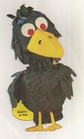 Fabeltjeskrant kartonnen snoepzak-figuur Mijnheer de Raaf B