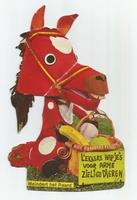 Fabeltjeskrant kartonnen snoepzak-figuur Meindert het Paard