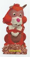 Fabeltjeskrant kartonnen snoep-figuur Martha Hamster