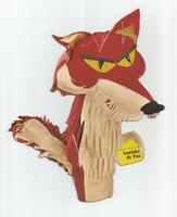 Fabeltjeskrant kartonnen snoepzak-figuur Lowieke de Vos A