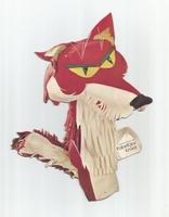 Fabeltjeskrant kartonnen snoepzak-figuur Lowieke de Vos B