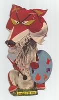 Fabeltjeskrant kartonnen snoepzak-figuur Lowieke de Vos C