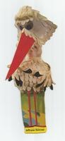Fabeltjeskrant kartonnen snoepzak-figuur Juffrouw Ooievaar A