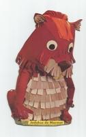 Fabeltjeskrant kartonnen snoepzak-figuur Jodokus de Marmot