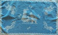 Tom Poes en Ollie B. Bommel handdoek jaren 50 (blauw)