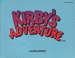 NES Kirby's Adventure manual