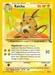 Pokemon Fossil Raichu